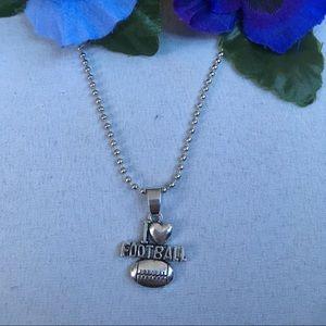 Jewelry - I love Football Necklace